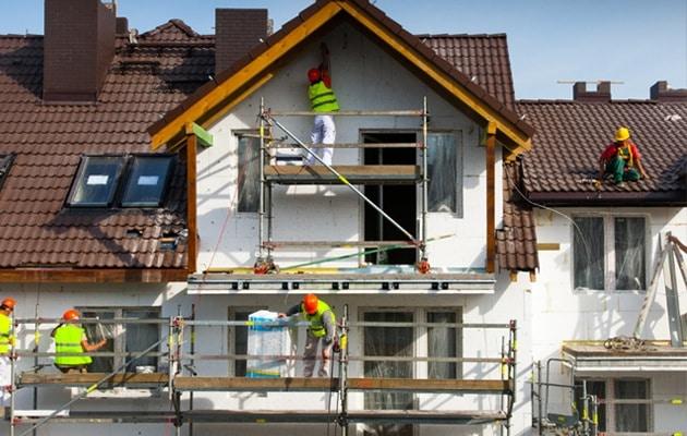 Rénovation de façade avec crépi