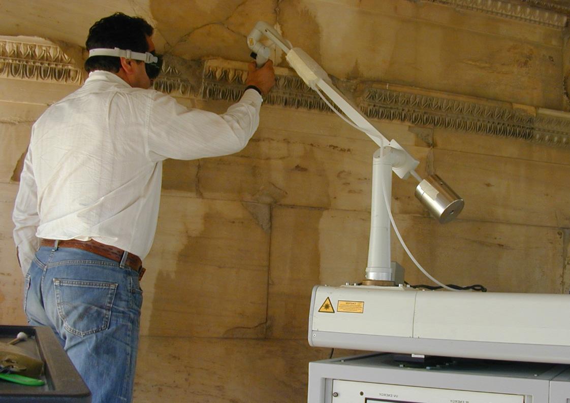 nettoyage au laser de monument historique