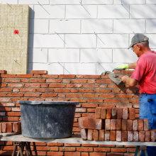 Maçonner mur - isolation de la façade
